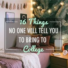 16 Things No One Will Tell You To Bring To College Creating a packing list for school can be tough. Here are some things no one tells you to bring to college that you will actually need to have! College Dorm List, College Dorm Checklist, College Dorm Essentials, College Packing Lists, College Life Hacks, Dorm Life, Scholarships For College, College Snacks, College Dorm Rooms