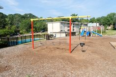 Right next to the pool, a perfect playground for kids at Cheverly Station, Landover, Maryland