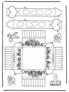 Easter egg basket to color, cut out, fold, and assemble. Easter Basket Template, Easter Templates, Easter Printables, Printable Crafts, Easter Bunny Colouring, Easter Coloring Pages, Easter Crafts For Toddlers, Easter Activities, Easter Egg Basket