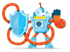www.mascotize.com - It's all about robots lately! Vector mascot design for Orion Health