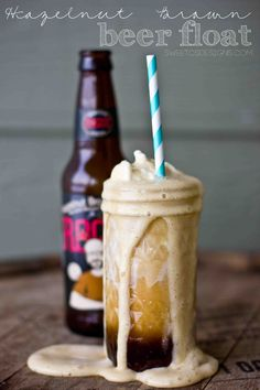 Hazelnut Brown Beer Float- such a yummy treat for Valentine's Day