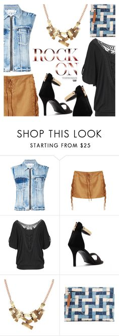 """""""How To Wear: Summer Suede Style"""" by eclectic-chic ❤ liked on Polyvore featuring 3.1 Phillip Lim, Loewe, suede, denimvest, StyleTips, summeressentials and yoins"""