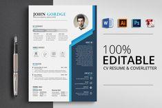 Creative Design CV Resume Word by Psd Templates on Resume Design Template, Best Resume Template, Creative Resume Templates, Cv Template, Psd Templates, Resume Words, Resume Cv, Resume Writing, Resume Format