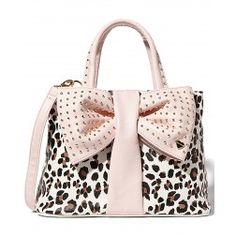 Betsey Johnson Leopard Bow Tie Shopper