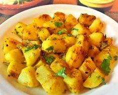 Aloo Masala - Patatas al estilo de la India :: recetas veganas recetas vegetarianas Potato Recipes, Veggie Recipes, Indian Food Recipes, Italian Recipes, Vegetarian Recipes, Ethnic Recipes, Delicious Vegan Recipes, Healthy Recipes, Vegan Chickpea Curry