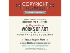 Really nice copyright notice wording {the shoppe}