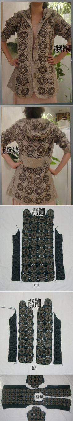 tığ işi motifli yelek örneği (2)