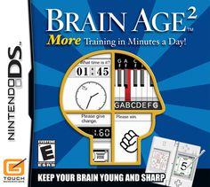 Brain Age 2 More Training in Minutes a Day is a Puzzle video game for Nintendo DS. This game developed and published by Nintendo. Nds Rom are playable on Nintendo Ds Lite, Nintendo News, Nintendo Switch, Brain Twister, Age, When School Starts, Software, How To Get Better, Train Your Brain