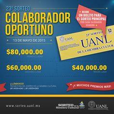 Conoce los beneficios de ser colaborador del Sorteo de la Siembra Cultural. http://www.sorteo.uanl.mx/colaboradores/beneficios/