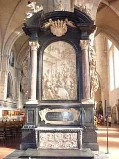 Baroque grave monument with amazingly detailed marble reliefs, Dom ,Trier
