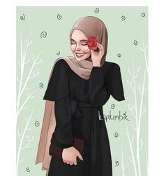 """Oysa ben bir akşamüstü oturup turuncu bir yangının eteklerine, yüreği … ""However, I sit down in the afternoon and consume the world and myself with a life companion beating the heart of an orange fire in the palm of my hand… Couple Sketch, Girl Sketch, Cartoon Drawings, Cute Drawings, Hijab Drawing, Cute Muslim Couples, Islamic Cartoon, Anime Muslim, Hijab Cartoon"