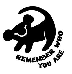 """Amazon.com: Lion King Inspired Simba Remember Who You Are Vinyl Decal Sticker (4""""H x 4""""W): Home & Kitchen"""