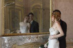 ....allo specchio (palazzina di caccia di Stupinigi, Torino, Italy) #wedding_in_italy #Stupinigi #Torino #wedding #reportage