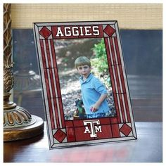 Texas A&M Aggies Picture Frame Vertical Art Glass Frame
