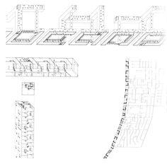 Steven Holl   Barras de contención espacial [Spatial Retaining Bars] del proyecto Edge of the City   Phoenix, Arizona; Estados Unidos   1989