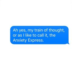 Hop on Anxiety express yaall