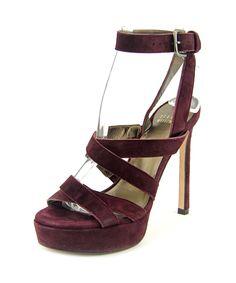 STUART WEITZMAN Stuart Weitzman Soundtrack Women  Open Toe Suede Burgundy Platform Sandal'. #stuartweitzman #shoes #pumps & high heels