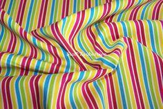 Newcastle Fabrics Susie bunte Ringel Streifen Patchwork Baumwollstoff Meterware