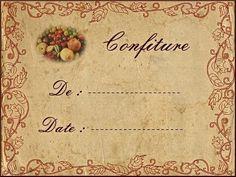 Etiquette confiture 6 - Top Of The World Vintage Images, Vintage Posters, Jam Label, Jar Of Jam, Etiquette Vintage, Pots, Jam And Jelly, Decoupage Vintage, Printable Labels