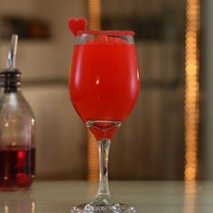 Red Hot Slush - Stuff to Try - Cocktail Red Wine Cocktails, Liquor Drinks, Dessert Drinks, Alcoholic Drinks, Valentine's Day Drinks, Cherry Vodka, Sugar Candy, Food Art, Acre