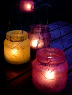 Farolillos reciclados / Recycled lanterns