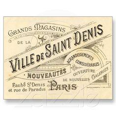 Vintage Franse Publiciteit Wenskaarten van Zazzle.nl
