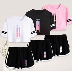 Shop High-Quality KPOP BTS Clothing, Accessories, and Merchandise Products at Affordable Prices. Kpop Outfits, Trendy Outfits, Summer Outfits, Girl Outfits, Cute Outfits, Fashion Outfits, Bts Hoodie, Bts Shirt, Kpop Fashion