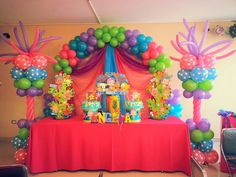 Candy land balloon decoration