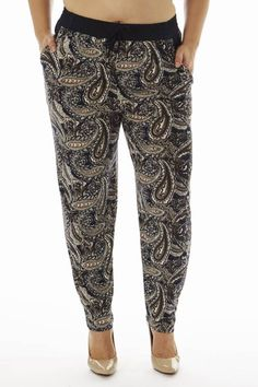 4d7dca5442e Pair this Plus Size Paisley Print Soft Pants with a nice top- Fashion  Outlet NYC