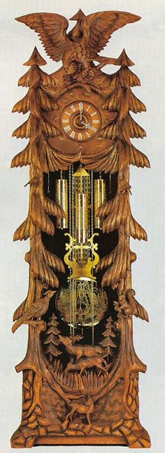 Schneider Black Forest hand-carved Grandfather Cuckoo Clock CLOCKS / BAROMETERS⌛️⏱⏰⏲⏰More At FOSTERGINGER @ Pinterest⏰⏲⏱⏳
