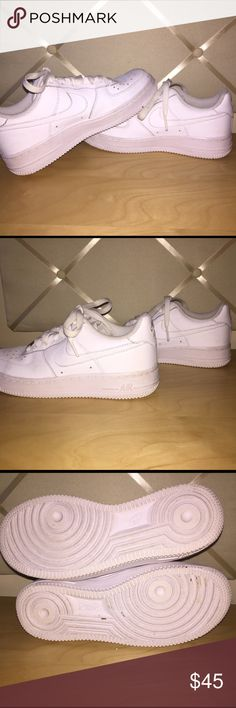 White Nike Low Top Air Force 1s These shoes are in great condition and have been worn about 3 times. Nike Shoes Sneakers