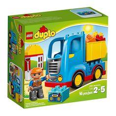 Lego Duplo - El Camion;  Conduce el camión hasta su destino para volcar su contenedor y entregar la carga. A los más pequeños les encantará construir y reconstruir estos fantásticos modelos. Incluye una figura LEGO DUPLO de un obrero... En   http://www.opirata.com/lego-duplo-camion-p-25882.html