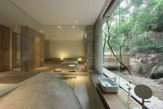 FIRM: FM. X Interior Design; PROJECT: Returning Hut Design Director: LOCATION: Fujian, China. Private countryside, wooded retreat for businessman seeking to gain respite from the urban hustle and bustle.