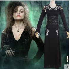 Harry Potter Cosplay Women Bellatrix LeStrange Costume