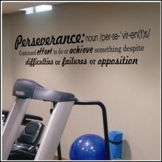 """""""Perseverance"""" Defined Wall Decal 