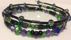 Beaded wrap bracelet inspired by Disney's Maleficent  on Etsy, $10.00
