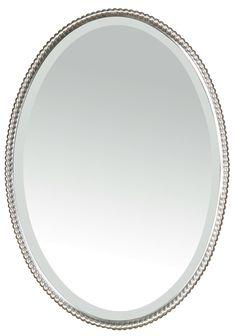Uttermost Sherise Beaded Mirror & Reviews | Wayfair Basement Powder room