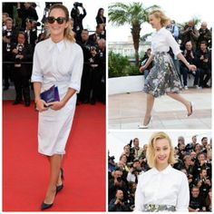 Cannes Do Chic -Try a white blouse to anchor bold pieces - FocusOnStyle,comFocusOnStyle | Sharon Haver