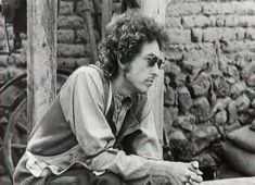 "Bob Dylan as ""Alias"" waiting on the set of the movie ""Pat Garrett and Billy the Kid"""