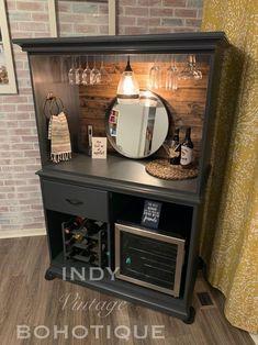 Wine And Coffee Bar, Coffee Bar Home, Coffee Bar Ideas, Coffee Nook, Home Coffee Stations, Coffee Bars, Refurbished Furniture, Repurposed Furniture, Painted Furniture