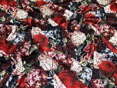 Floral Print Ponte Roma Stretch Jersey Knit Dress Fabric  Multicoloured | Fabric | Dress Fabrics | Minerva Crafts