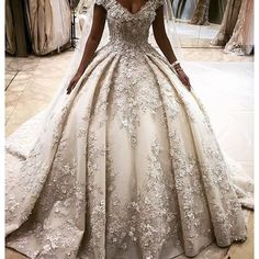 Fit for a queen! Custom designed by ziadnakad for a modern day princess' dream day.