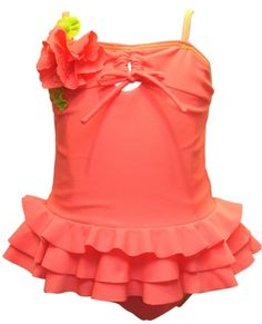 Isobella and Chloe Swimwear ``Coraline`` Beautiful Coral Skirted 2 piece Tankini SwimsuitLast Size! 3T