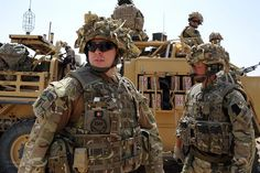 Personnel of 51 Squadron RAF Regiment on a security patrol around the perimter of Camp Bastion, Afghanistan.