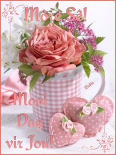 Good Morning Messages, Good Morning Wishes, Basket Flower Arrangements, Lekker Dag, Goeie More, Afrikaans Quotes, Good Night Sweet Dreams, Morning Blessings, Good Night Image