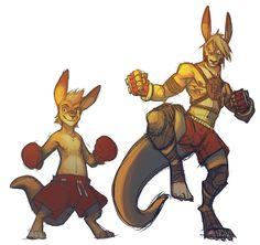 Digital Practice Kangaroo Fighter by ben-ben on DeviantArt