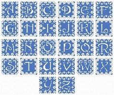 back stitch alphabet charts   ... stitch designs. These small folksy charts were originally … Content