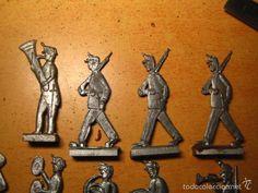 Juguetes Antiguos: soldados de plomo planos - ejército español compuesto de 10 figuras - Foto 4 - 56568276