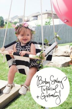 it Work: Baby Swing Tutorial The Makerista: Baby Swing Tutorial + Giveaway. Enter for your chance to win this swing!The Makerista: Baby Swing Tutorial + Giveaway. Enter for your chance to win this swing! Baby Kind, Baby Love, Diy Swing, Outdoor Baby Swing, Porch Swing, Diy Bebe, Baby Swings, Baby Hammock, Hanging Hammock