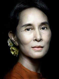 Aung San Suu Kyi is a Burmese chairperson of the National League for Democracy in Burma. Her methods are non violent.